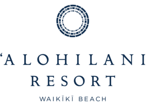 Alohilani Resort Waikiki Beach Logo Navy