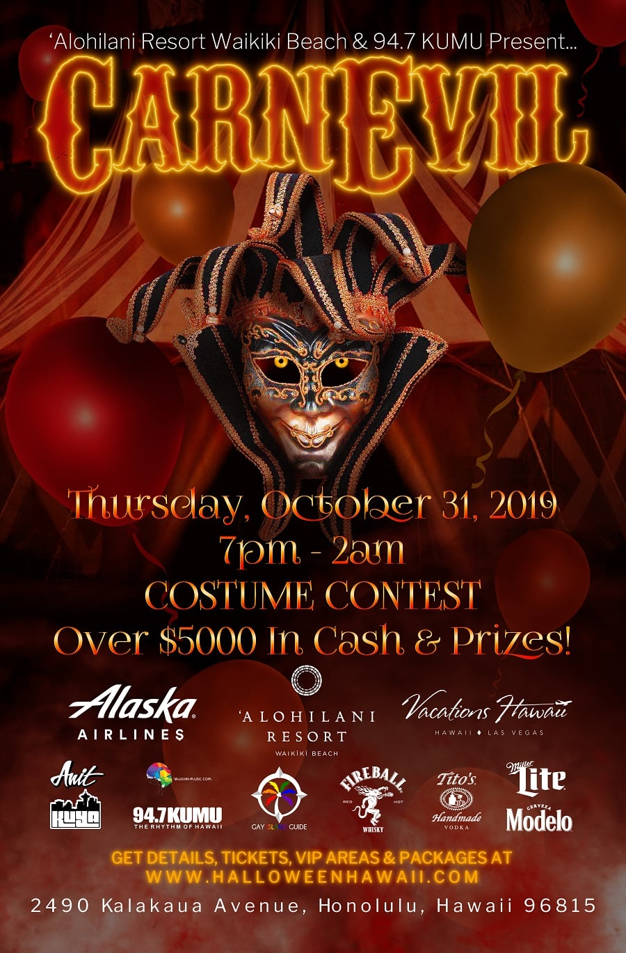 Halloween Waikiki 2020 Waikiki's Largest Halloween Party and Costume Contest   ʻAlohilani