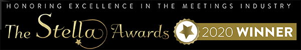 Black and Gold The Stella Awards 2020 Winner banner